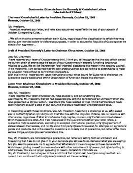 Letters Between Kennedy & Khrushchev