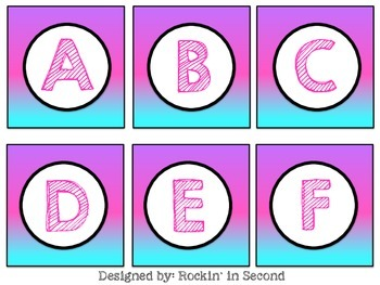 Letters Capital & Lower Case Cards/Game