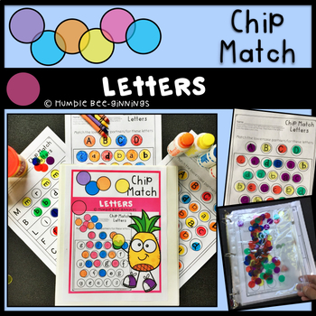 Kindergarten Letters Chip Match