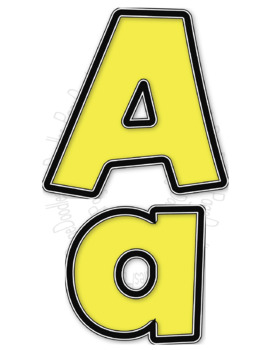 Letters, Chunky Yellow, for TPT Sellers - High Quality Vector Graphics
