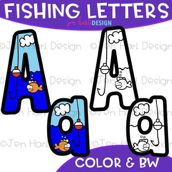 Letters Clip Art - Fishing Letters {jen hart Clip Art}
