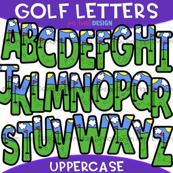 Letters Clip Art - Golf Letters {jen hart Clip Art}