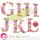 Letters Clipart, Letters In Pink Floral Theme Clipart A to