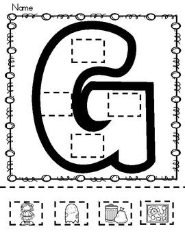 Letters: Cut - Paste - Color