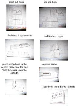 Letters Cut and Fold Mini Alphabet Books Aa Thru Zz (NO PREP)