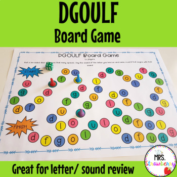 Letters DGOULF Board Game
