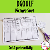 Letters DGOULF Picture Sort Activity