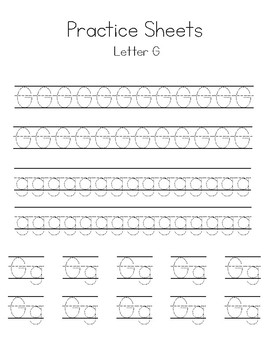 Letters E-H Writing Practice Worksheets