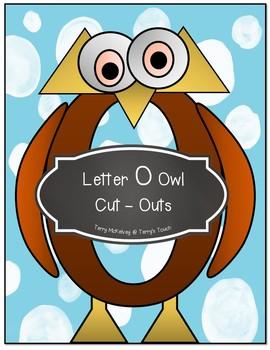 Letters E, I, U, O Cut & Paste