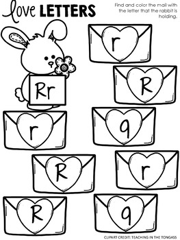 Letters Find and Color Activity
