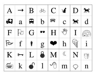 Letters Flash Cards`