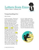 """Letters From Enzo, Volume 1, Issue 2 """"Trying Something New"""""""