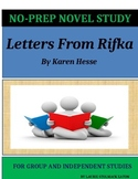 Letters From Rifka Novel Study Lesson Plans-Karen Hesse