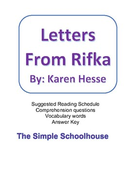 Letters From Rifka chapter questions