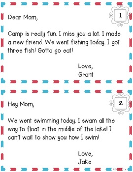 Letters From Summer Camp {An Inferencing & Letter Writing Activity}
