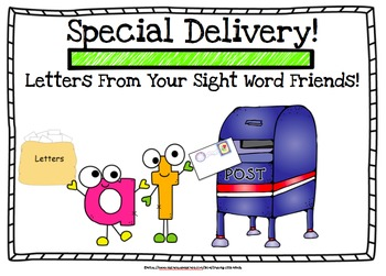 Letters From Your Sight Word Friends