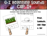 Letters G-I Beginning Sounds Clip It {A Beginning Work Task)