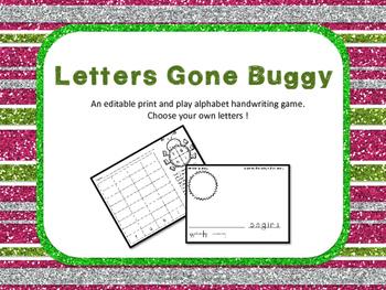 Letters Gone Buggy- FREEBIE