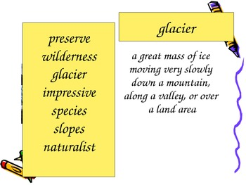 Letters Home from Yosemite Vocabulary PowerPoint