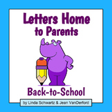 LETTERS HOME TO PARENTS: BACK-TO-SCHOOL
