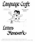 Letters  Homework Pre K-3