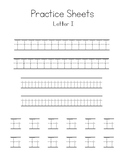 Letters I-L Writing Practice Worksheets