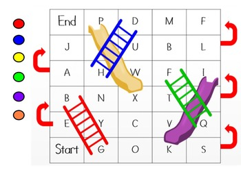 Letters, Letter Sounds & Sight Word Chutes & Ladders Mimio