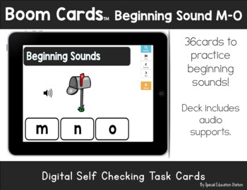 Letters M-O Beginning Sounds Clip It {A Beginning Work Task)