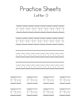 Letters M-O Writing Practice Worksheets