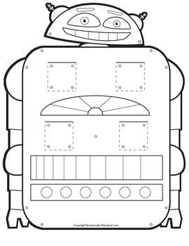 Letters M-R Robot Find