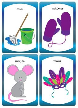 Letters M and N Rhyme, Worksheet, Flashcards and Matchups