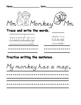 Letters M thru O Beginning Letter Sound Worksheets