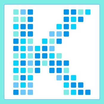 Letters Made of Squares / Pixel Letters Clip Art Pack for Commercial Use