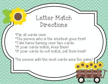 Letters Match & Sort
