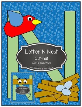 Letters N, C & K Cut & Paste Cut-Outs