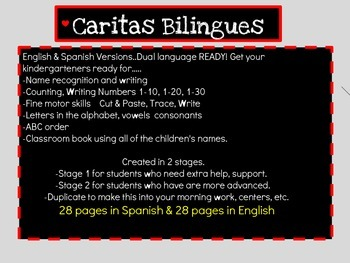 Letters, Names, Numbers for kindergarten (English Version)