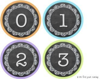 Letters & Number Diecuts: Chalkboard