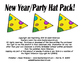 Letters - Numbers - 10 Frames and More!  New Year/Party Hat Pack!
