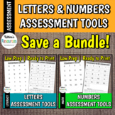 Letters & Numbers Assessment BUNDLE