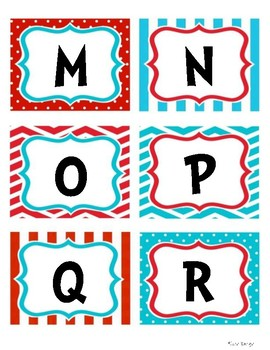 Letters & Numbers (Dr. Seuss)
