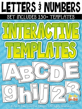 Letters & Numbers Flippable Interactive Templates {Zip-A-Dee-Doo-Dah Designs}