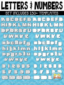 Letters & Numbers Flippable Interactive Templates {Zip-A-Dee-Doo-Dah Designs}
