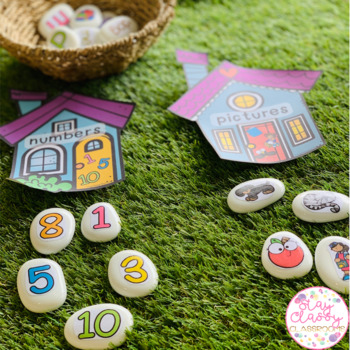 Letters, Numbers, Pictures and Words Sorting Stones