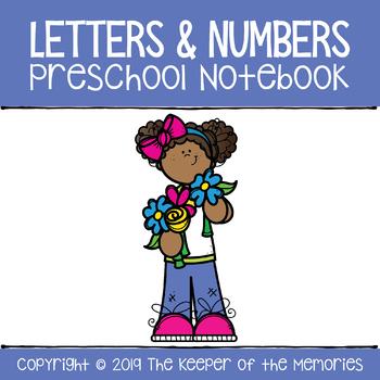 Letters & Numbers Preschool Notebook Bundle (Take Home Packet)