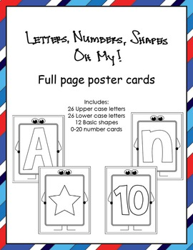 Letters, Numbers, Shapes Oh My! Full Sheet Posters