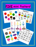 Letters, Numbers, Shapes and Colors Mini Posters