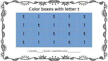 Letters/Numbers Visual Discrimination