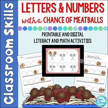 Letters & Numbers With a Chance of Meatballs: Literacy and