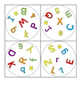 Letters, Numbers, and Other Symbols Spot It Game