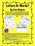 Letters Or Words